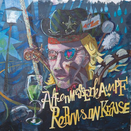 "AFFENMESSERKAMPF / ROBINSON KRAUSE – Split (NAR 055) 7"""